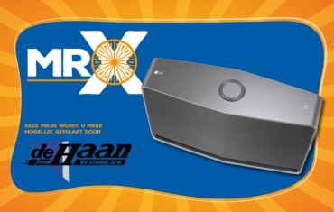 Vind Mister X en win een LG H5 Music Flow Wireless Multiroom speaker!